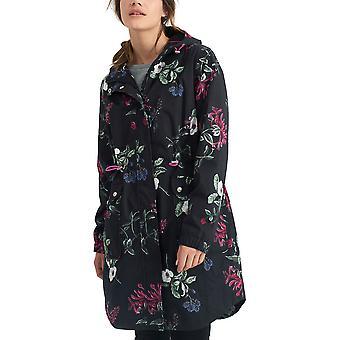 Joules Womens/Ladies Raina Flower Printed PU Coated Long Waterproof Parka Jacket