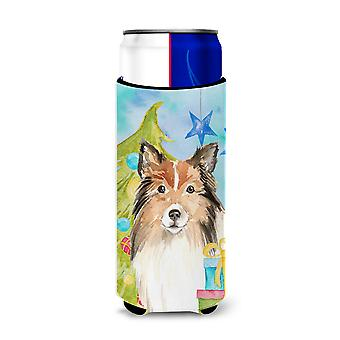 Christmas Tree Sheltie Michelob Ultra Hugger for slim cans