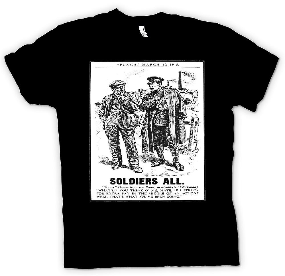 Mens T-shirt - Soldiers All - War Poster