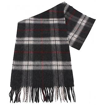 Bassin and Brown Pickering Tartan Cashmere Scarf - Charcoal/Grey/Red