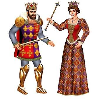 Königliche König und Königin trat Ausschnitte 91,44 cm (2 in einer Packung)