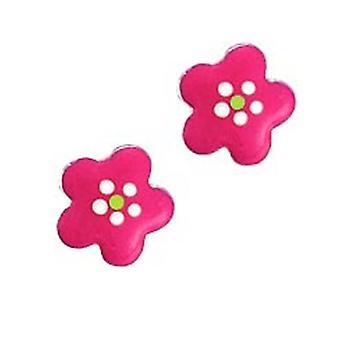 Scout children earrings silver pink flower girl 262124100