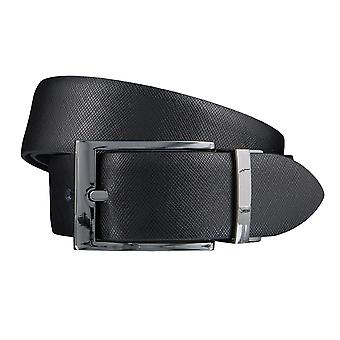 LLOYD Men's belt belts men's belts leather belt belt black/blue 3848