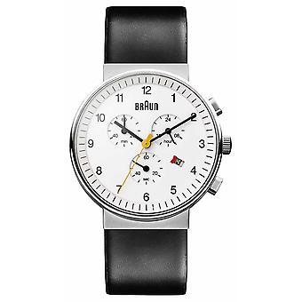 Braun Unisex klassieke chronograaf BN0035WHBKG Watch