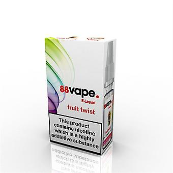 88 Vape E-Liquid Nicotine 11mg Fruit Twist 10ML