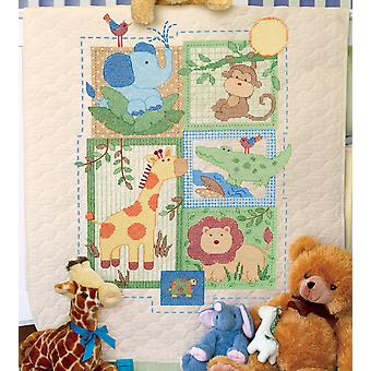 Baby Hugs Savannah Quilt Stamped Cross Stitch Kit-34