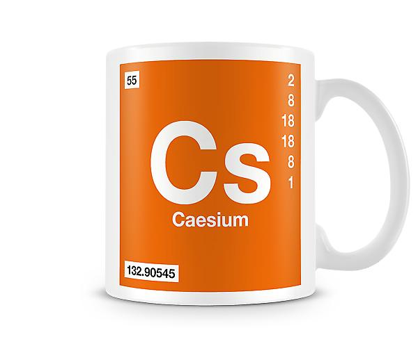 Element Symbol 055 Cs - Caesium Printed Mug