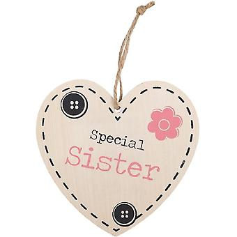 Something Different Special Sister Hanging Heart Sign