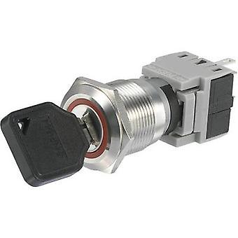 TRU COMPONENTS LAS1-BGQ-11Y/21 Key switch 250 V AC 5 A 1 x Off/On 1 x 90 ° IP40 1 pc(s)