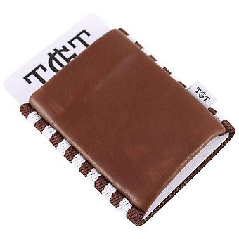 TGT Tight Wallets Cowman 2.0 Elastic Card Holder - Brown/White