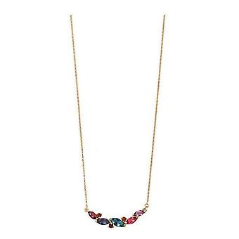 Elements Gold Mixed Stone Necklace - Multi-colour/Gold