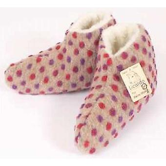 Bed shoes wool nubs beige 40/41