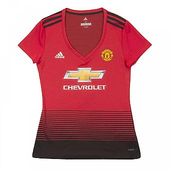 Adidas Womens Manchester United 2018/2019 Home Shirt (Red)