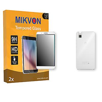 Huawei ShotX Screen Protector - Mikvon flexible Tempered Glass 9H (Retail Package with accessories) (1x FRONT / 1x BACK)