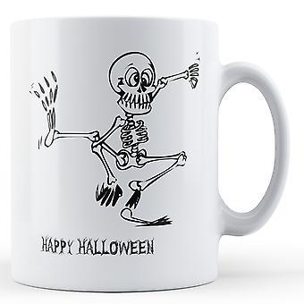 Dekoracyjne, pisanie Happy Halloween taniec szkielet - kubek z nadrukiem