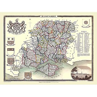Map of Hampshire 1836 by Thomas Moule 1000 Piece Jigsaw Puzzle (jhg)
