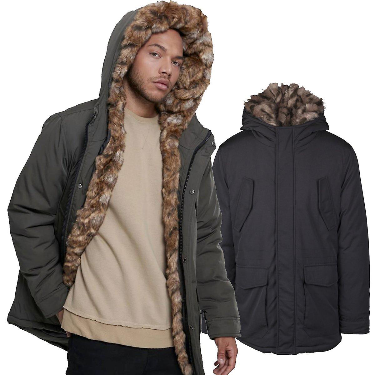Urbains classics - veste à capuchon de fourrure d'hiver