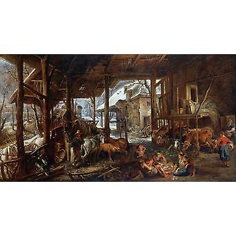 Winter, Peter Paul Rubens, 80x40cm