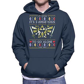 Legend Of Zelda Christmas Knit Pattern Men's Hooded Sweatshirt