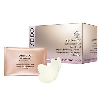 Shiseido Benefiance Wrinkle motstå 24 Express Smoothing Eye Mask 12 Packettes x 2