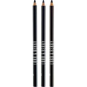 Heer & Berry lijn/schakering Eyeliner potlood Kit - koffie, donker zwart, Midnight