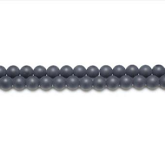 Strand 44+ Black Onyx 8mm Frosted Plain Round Beads GS5624-3
