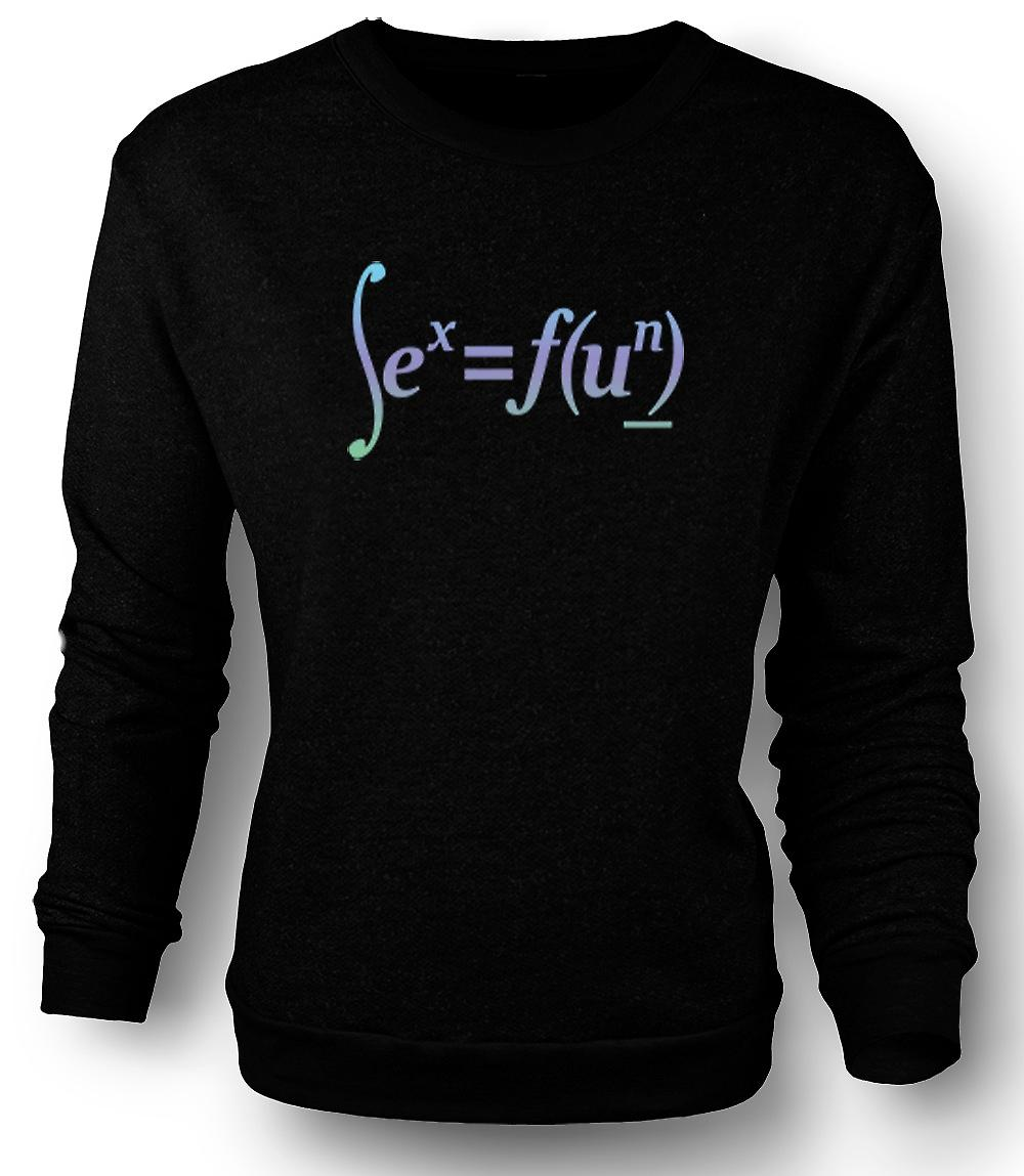 Mens Sweatshirt Sex = Fun - Math Formula Design