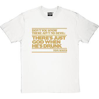 Tom Waits не дьявол цитатой (Золотая печать) Мужская футболка