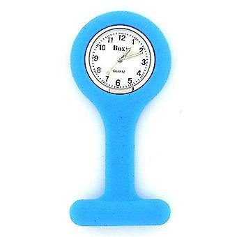 Boxx Blue Unisex Rubber Infection Control Nurses Fob Watch with Luminous Hands