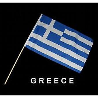 Greece Hand Held Flag