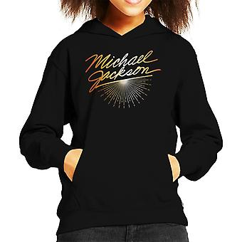 Michael Jackson Gold Font Kid's Hooded Sweatshirt
