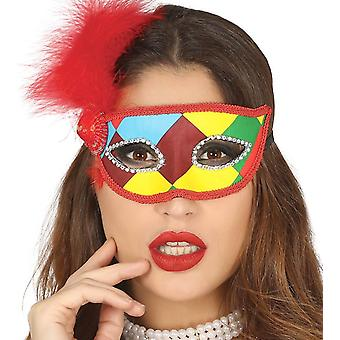 Womens Harlequin masker Fancy Dress accessoire