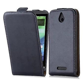 Cadorabo Hülle für HTC DESIRE 510 Case Cover - Handyhülle im Flip Design aus glattem Kunstleder - Case Cover Schutzhülle Etui Tasche Book Klapp Style