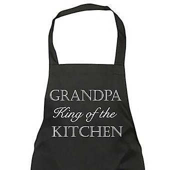 El abuelo rey de la cocina negro delantal