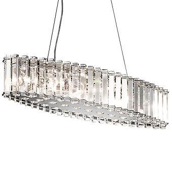 Lámpara Chandelier de cristal isla de Skye - Elstead iluminación Kl / Crstskye / CRSTSKYE/KL/isla