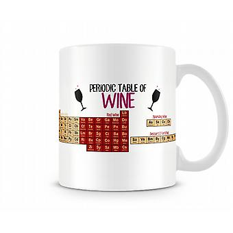 Decorative Writing Periodic Table Of Wine Printed Mug