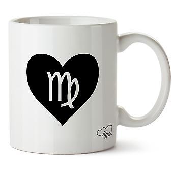 Hippowarehouse Herz Jungfrau gedruckt Mug Tasse Keramik 10oz