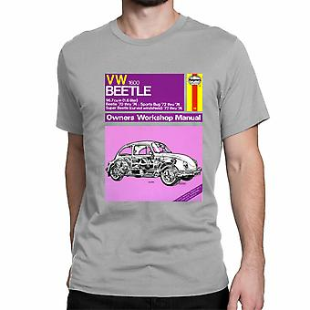 Official Haynes Manual Unisex T-shirt VW Beetle 1.6L '70 thru '74 Owners Workshop Manual