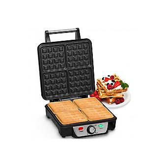 Andrew James 4 Slice Belgian Waffle Maker With Adjustable Temperature