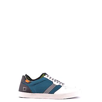 D.a.t.e. Petrol Leather Sneakers