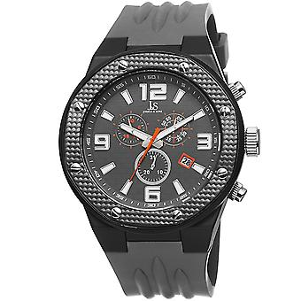 Joshua & Sons Men's Multifunction Swiss Quartz Watch with Brick Pattern  Dial and  Silicone Strap Watch  JS62GY