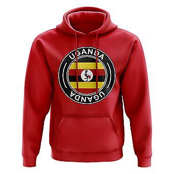 Uganda Football Badge Hoodie (Red)