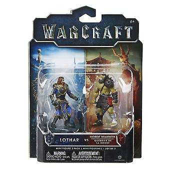 World Of Warcraft Mini Figura 2 Pack Lothar Vs Orda Guerriero