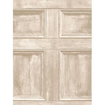Distinctive Wood Panel Wallpaper Cream Fine Decor FD31054