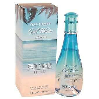 Cool vatten exotiska sommaren av Davidoff Eau De Toilette Spray (limited edition) 3,4 oz/100 ml (kvinnor)