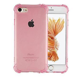 Bakstycket stötsäker TPU 1,5 mm Äpple iPhone 5/5S transparent rosa