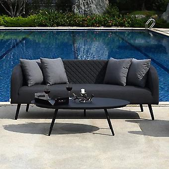 Maze Ambition 3 Seater Outdoor Fabric Sofa Set -Charcoal/Black