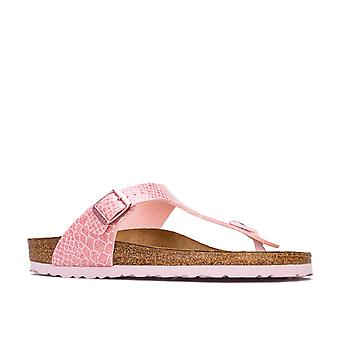 Children Girls Birkenstock Gizeh Bf Sandals In Pink- Slip-On Toe Thong