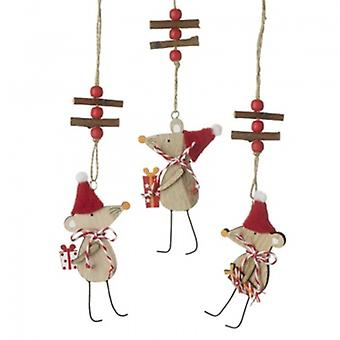 Heaven Sends Mix Of Wooden Mouse Hanging Decoration