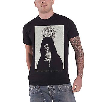 Bring Me The Horizon T Shirt Nun band logo new Official Mens Black